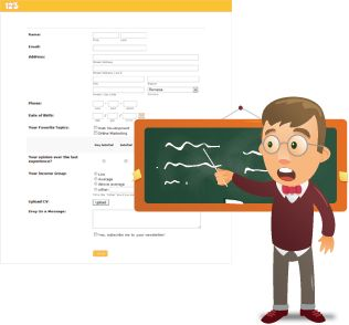 Education forms for Students & Educators Free Online Education Forms  Create online education forms as easy as 1-2-3. Our web form builder allows you to collect applications, evaluate students & accept tuition fee payments. No coding required!