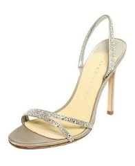 I want my wedding shoes to be something like this, maybe the heal a little higher and a little strappier :-)