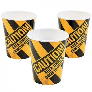 Construction Party Supplies, Construction Party Cups, Construction Tableware