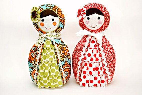 Babushka Doll Pattern. PDF Sewing Pattern. Home Decor, Doorstop, Softie, How to Make Russian Matryoshka Dolls. DIY by Angel Lea Designs