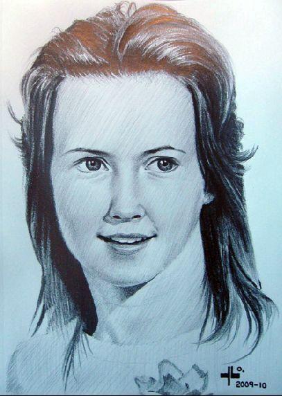 """Yordi Lara-Ochoa """"Jaana"""" Pencil on paper 21 x 29.7 cm 2009-10"""