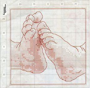 SCHEMI PUNTO CROCE: piedini