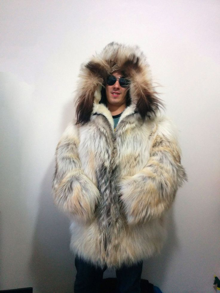 Amazing and unique mens real fur coat - as you can see it looks ...