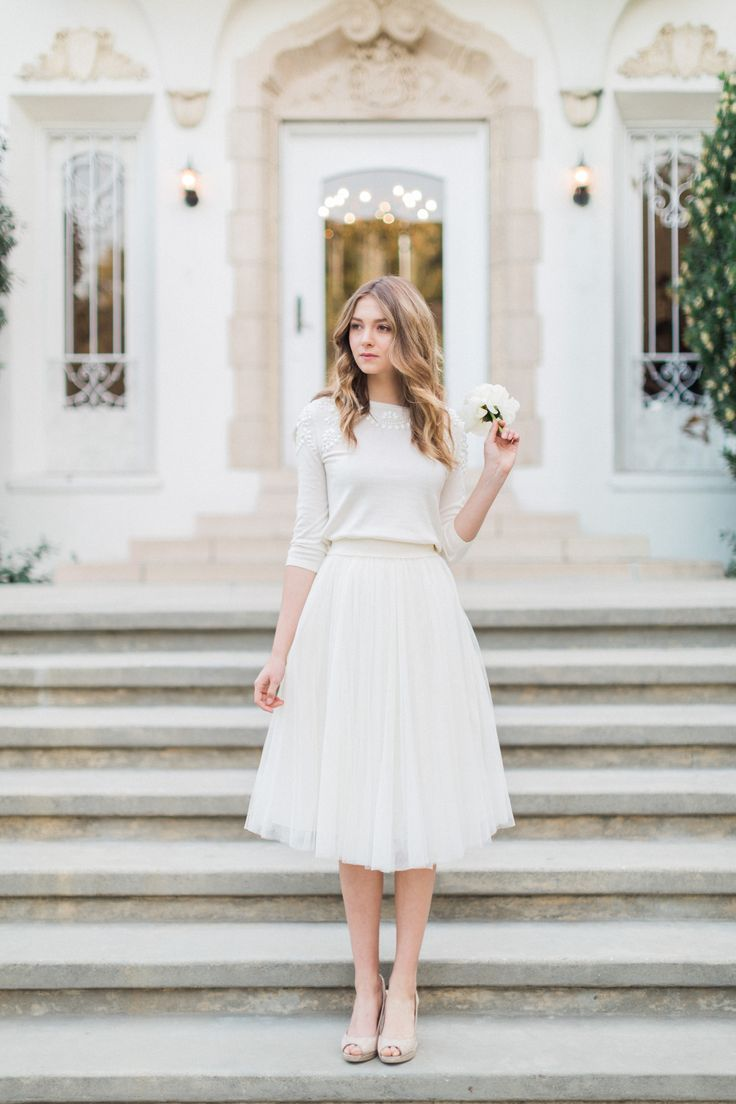 Millie Sweater + Lucy Tulle Skirt by Jenny Yoo // Bridal Separates // Mix + Matc… – dresses i love II