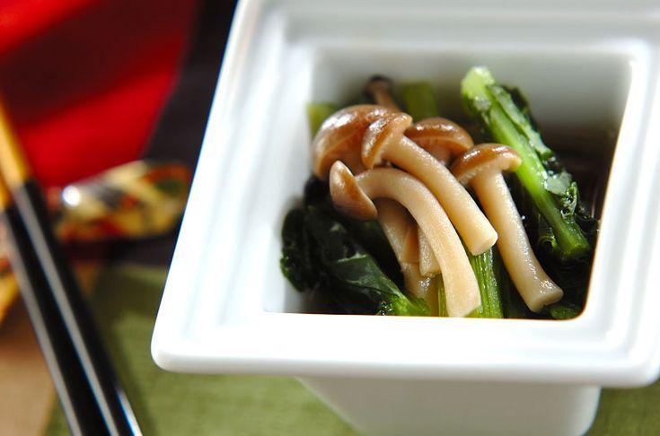 味がなじむまで少し時間をおいて下さいね。小松菜とシメジの煮浸し/杉本 亜希子のレシピ。[和食/サラダ・おひたし]2014.10.06公開のレシピです。