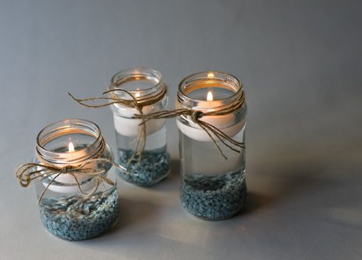 diy velas en botes de cristal reciclados mi cesta de mimbre decoracin
