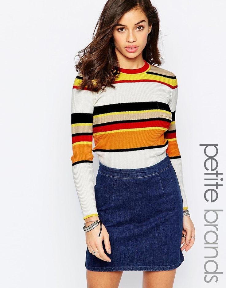 Glamorous+Petite+Retro+Stripe+Jumper