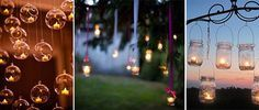 Candele appese al matrimonio - decorazioni con candele matrimonino