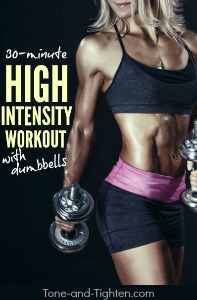 Shred a ton of calories in a hurry while sculpting sexy lean muscle definition using just a pair of dumbbells! Workout  Find more info: http://victoriajohnson.wordpress.com