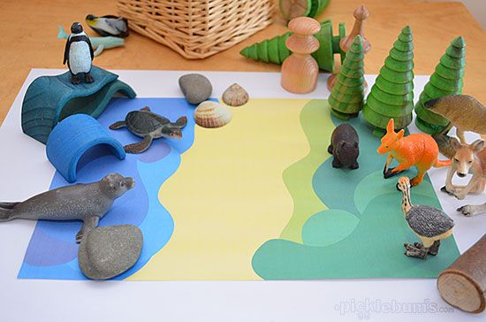These free printable play mats are a easy way to set up some imaginative play.