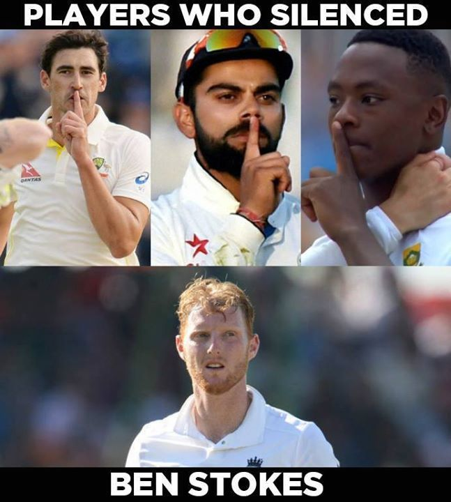 Kagiso Rabada gives a silent send off to Ben Stokes in  the Lord's Test #ENGvSA #SAvENG #1stTest For more cricket fun click: http://ift.tt/2gY9BIZ - http://ift.tt/1ZZ3e4d
