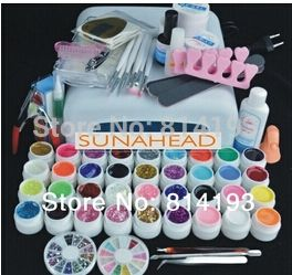 26.99$  Buy now - http://alir8m.shopchina.info/go.php?t=2042215993 - 36w lamp Pro 36 Color UV Gel Builder Nail Art  brush pen cuticle fork  Form  Files  tips  Finger topcoat  Cleanser plus Tool  26.99$ #magazineonline