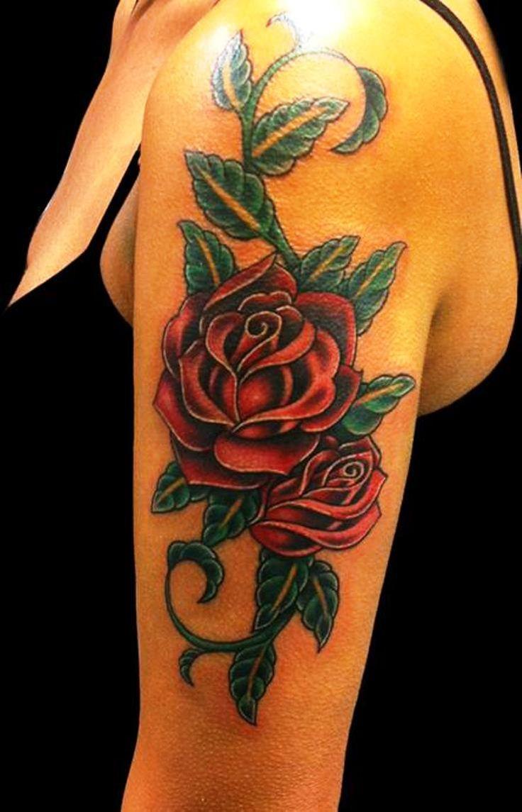die 25 besten ideen zu rose arm tattoos auf pinterest. Black Bedroom Furniture Sets. Home Design Ideas