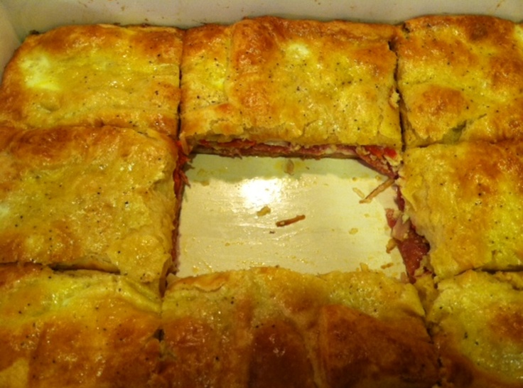 Antipasto squares | Recipe | Squares, Appetizers and Cheese appetizers