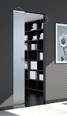 ECLISSE VITRO, glass door adapter that unites technology and design