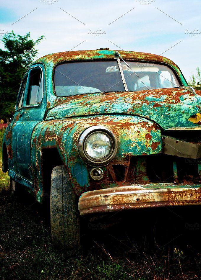 Pimped Rusty Car by zhekos on @creativemarket
