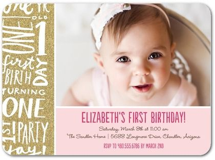 73 best first birthday party images on pinterest invitation cards birthday invites first birthday party invitations templates free pooledat stopboris Images