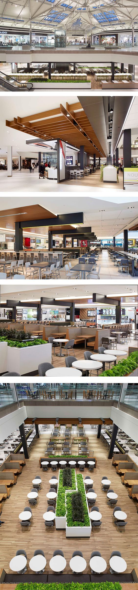 Food Court at Promenades St-Bruno in St-Bruno-de-Montarville, QC - designed by GH+A (in collaboration with Archifin Group):