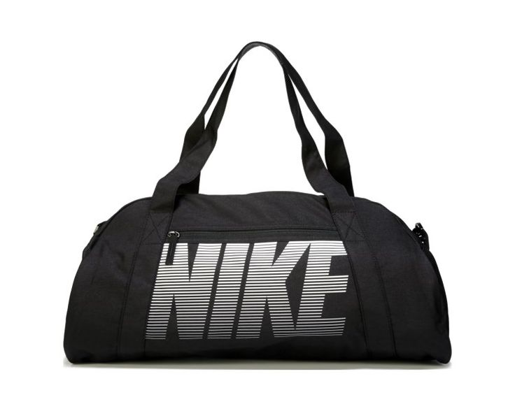 Get a bold look going back and forth to the gym in the Gym Club Duffel Bag from Nike.Durable water resistant nylonDual zippered main compartmentZippered exterior pocketDual carry handlesRemovable adjustable shoulder strapScreen printed logo detail20 and 1/2 x 11 x 12
