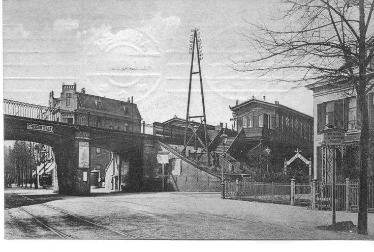 Arnhem: Het Velperpoortstation gezien vanaf de Velperweg in 1910