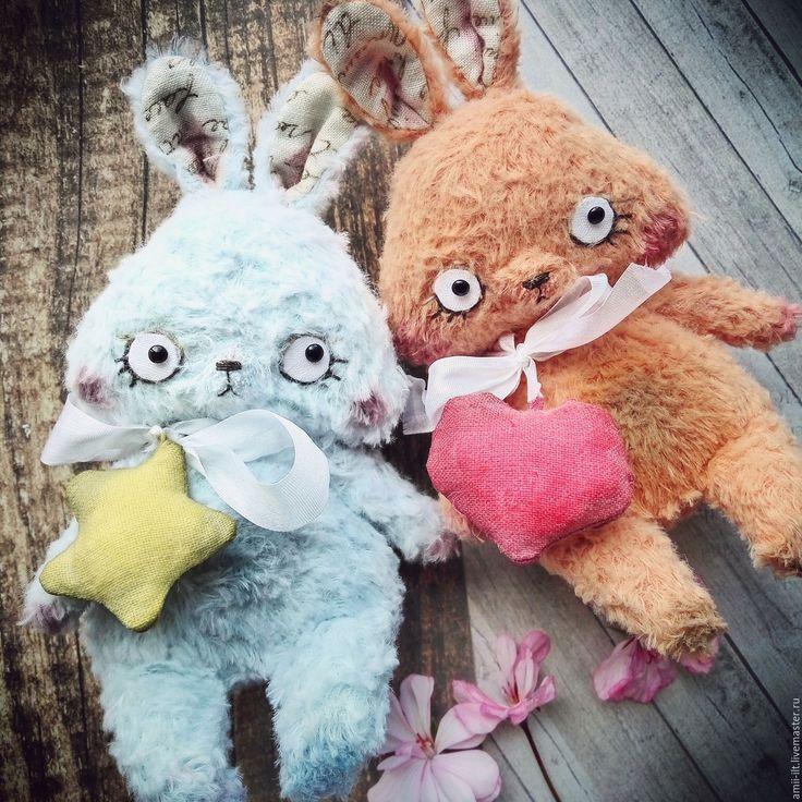Teddy Bunny   Купить Тедди зайки Сердечко и Звездочка -друзья мишек тедди - зайчик тедди, зайка тедди