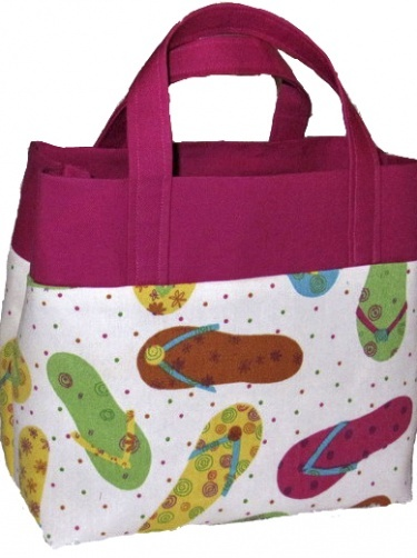 JUST RIGHT TOTE, easy to sew handbag digital pattern, instant download from Get Sewing!