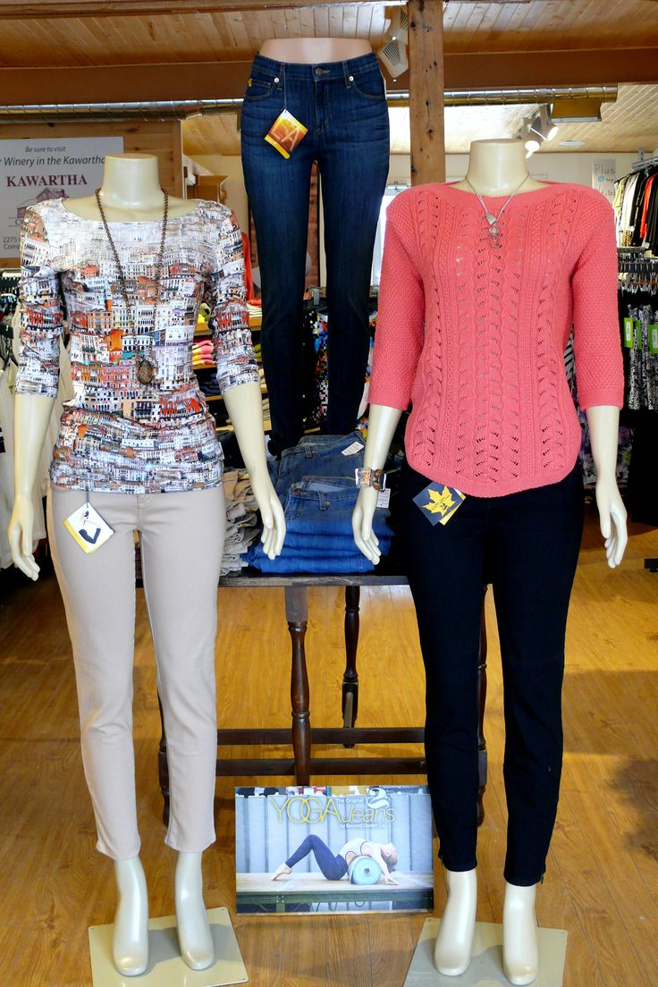 Great looking and comfortable Yoga Jeans, made in Canada and available at The Kawartha Store, 7058879888
