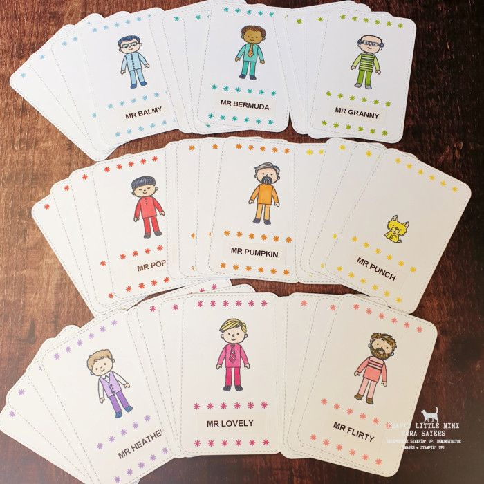 Happy Families Card Game Using Stampin Up Friends And Family Sara