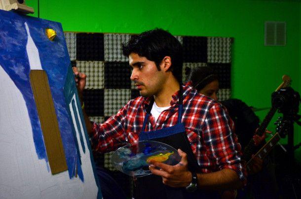 A music-painting experience. #art #painting #music #rafaelfischer