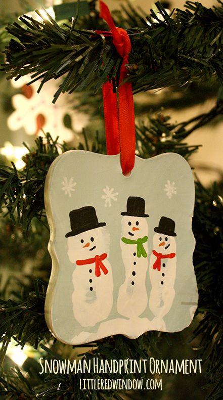 25 unique Snowman handprint ornament ideas on Pinterest  Hand