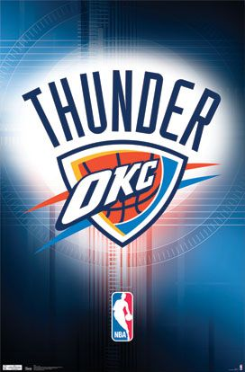 Oklahoma City Thunder Official NBA Team Logo Poster - Costacos Sports