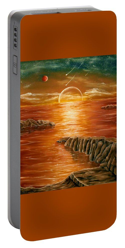 Portable Battery Charger,  brown,orange,colorful,cool,beautiful,fancy,unique,trendy,artistic,awesome,fahionable,unusual,accessories,for,sale,design,items,products,gifts,presents,ideas,fantasy,sunset,sea