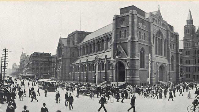 Corner of Swanston and Flinders streets, Melbourne, 1912.