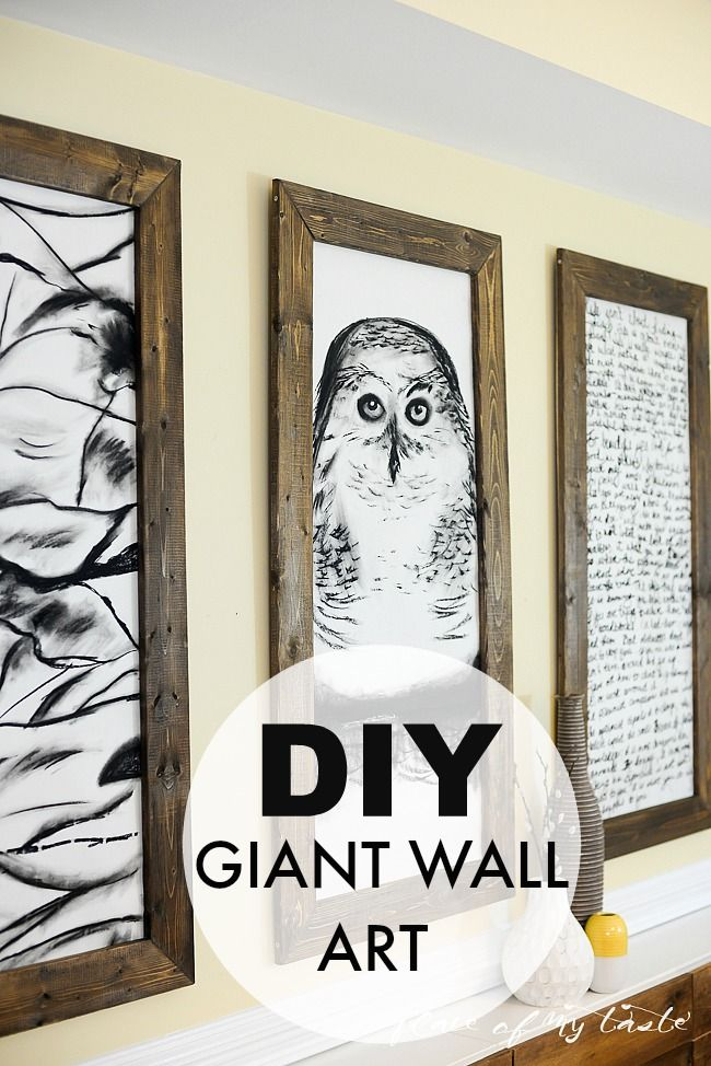 DO IT YOURSELF! DIY-ed giant frames with black and white drawings...Looks so…