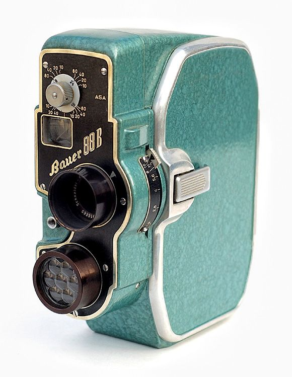 Bauer 88B...old 8mm movie cameras!!! they wind up. What a concept. Talk abought a green product, no battery, no electrical charging. So why don't we go back to this???