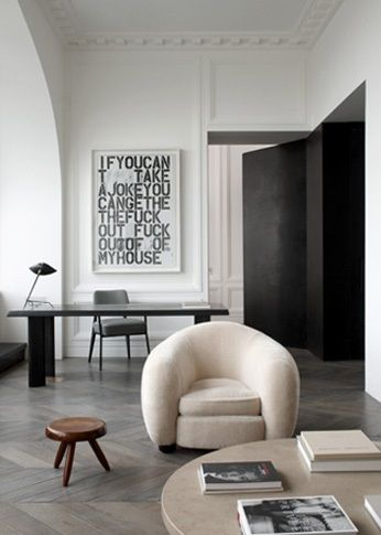 Christopher Wool Art and Parisian apartment by John Dirands