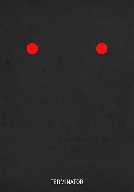 minimalist film posters terminator 20 Brilliant Minimalistic Movie Posters