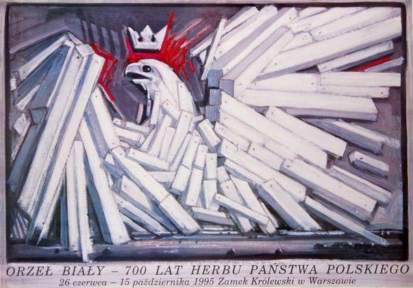 White Eagle - 700 Years of The Polish National Symbol Orzel Bialy - 700 Lat Herbu Panstwa Polskiego Starowieyski Franciszek Polish Poster