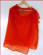 Knitting pattern for a lovely lace shawl.