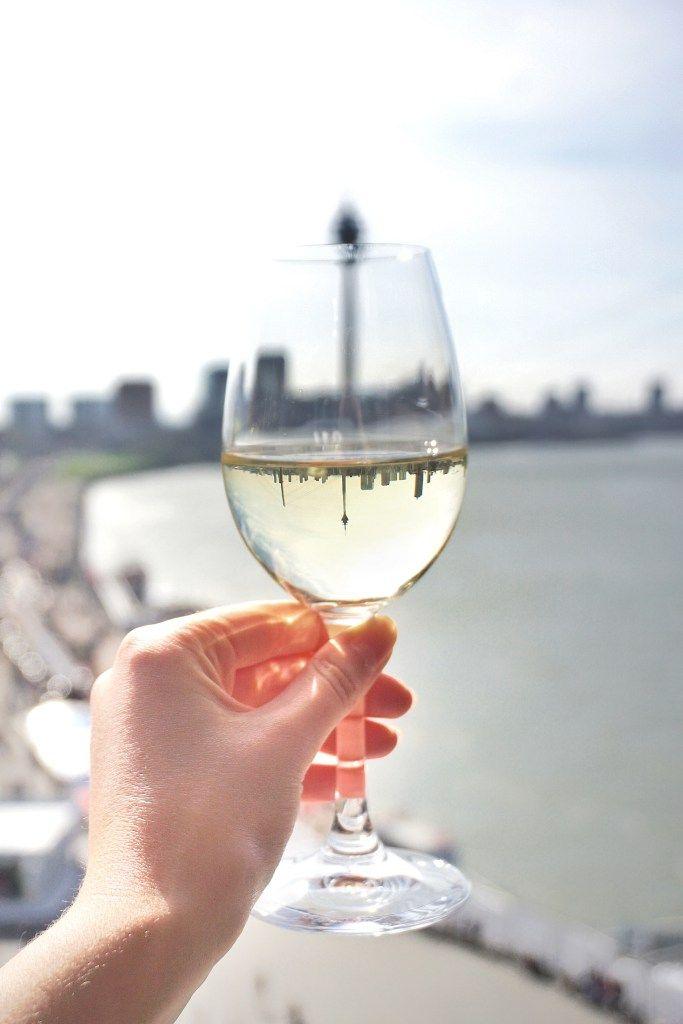 wine glass reflection rheinturm dusseldorf germany, a complete guide to visiting duesseldorf germany