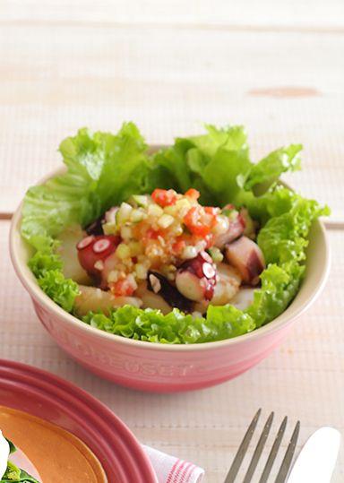 たことじゃが芋のサラダ~ラビゴット風ドレッシング~ のレシピ・作り方 │ABCクッキングスタジオのレシピ | 料理教室・スクールならABCクッキングスタジオ