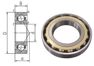Original High-speed angular contact ball bearing 7210 AC P4 50*90*20 Contact angle C:15  AC:25 #Affiliate