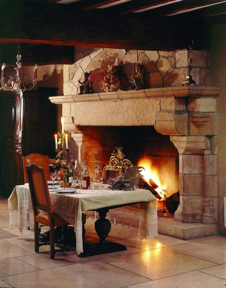 Relais & Châteaux - Photo by P. Van Robaey — at HOTEL BRITTANY.  #cozyfireplaces #hotelbrittany #relaischateaux