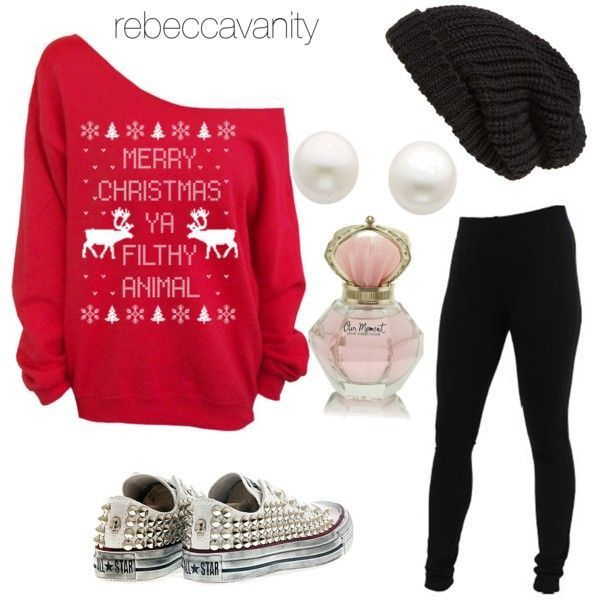Really cute Christmas outfit for teen girls