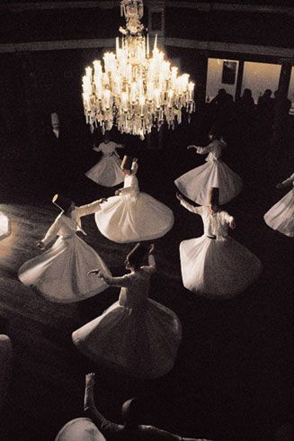 Whirling Dervishes. Image by Ara Güler | Offical Web Site - Turkey