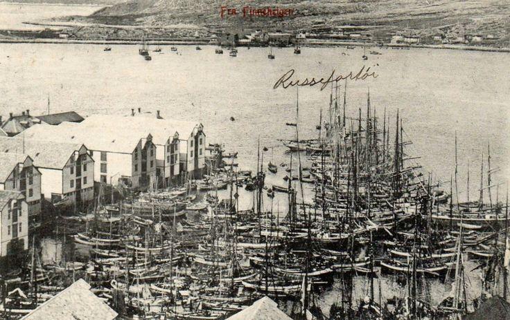 Finnmark fylke FINNEHELGEN. MANGE FISKEBÅTER. Utg G. Hagen Hammerfest Brukt 1909.
