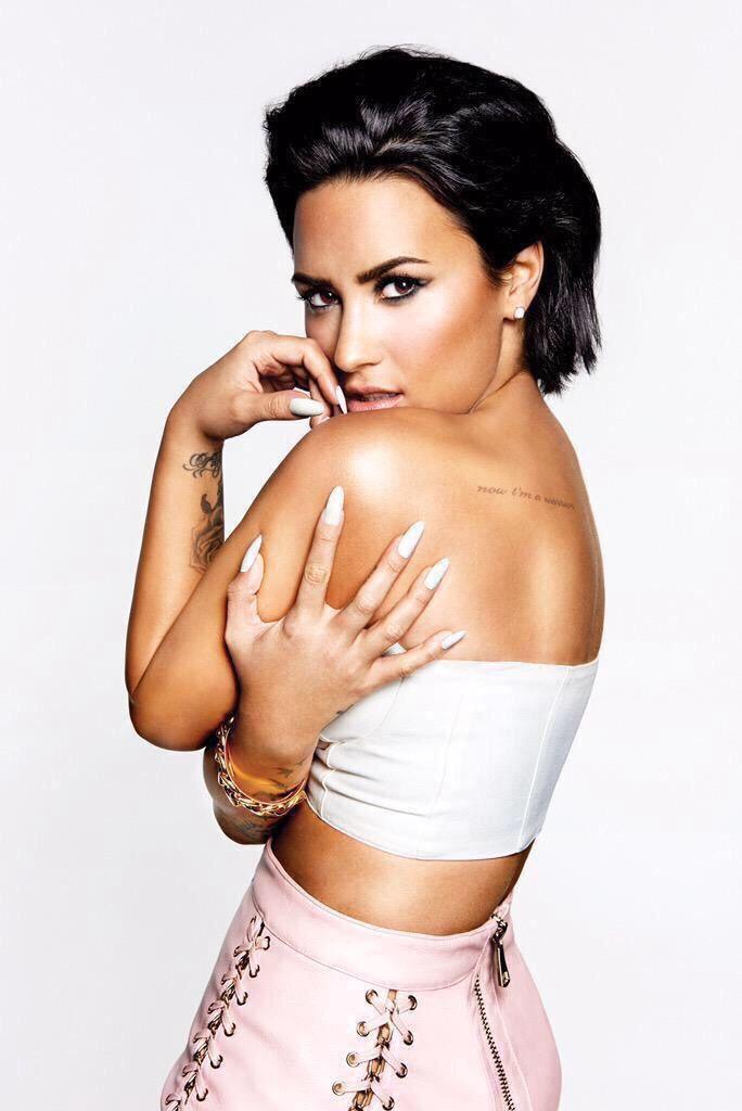 Demi Lovato's Confident album shoot.