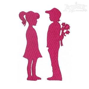 Dating Embroidery Design