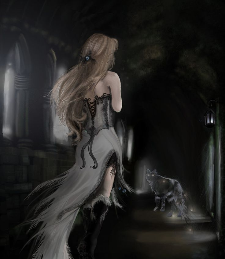 Wolf's Angel by AerisGainsley: Gothic Fantasy, Aerisgainsley Deviantart Com, Fantasy Art, Dark Dreams, Romantic Art, Ethereal Art, Fantasy Wolves, Ethereal Fantasy, Wolf Angels