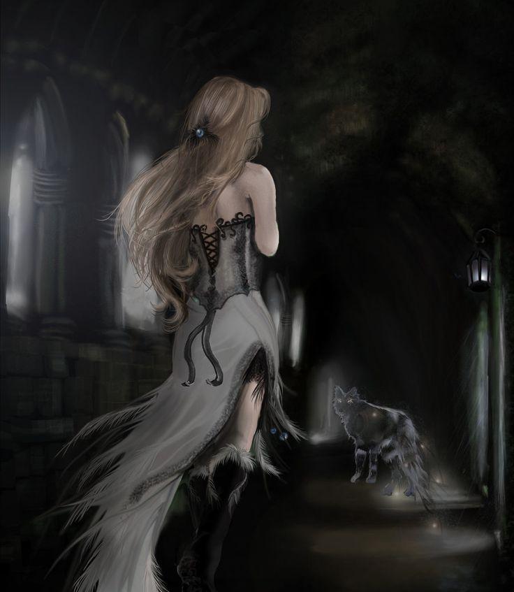 Wolf's Angel by AerisGainsley: Gothic Fantasy, Aerisgainsley Deviantart Com, Fantasy Art, Romantic Art, Ethereal Art, Wolf Angel, Fantasy Wolves, Ethereal Fantasy, Angels